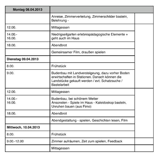 GS Kunrau 2013 (2 Übernachtungen)