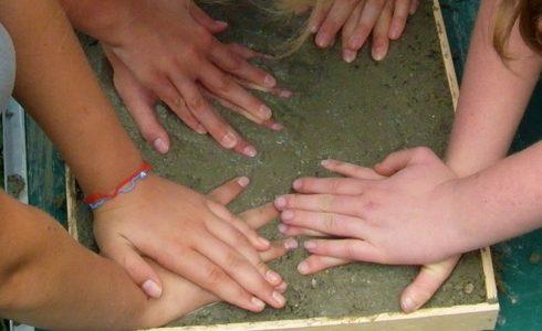 Erlebnis Hand-Abdrücke (Foto: Birgit Molin)