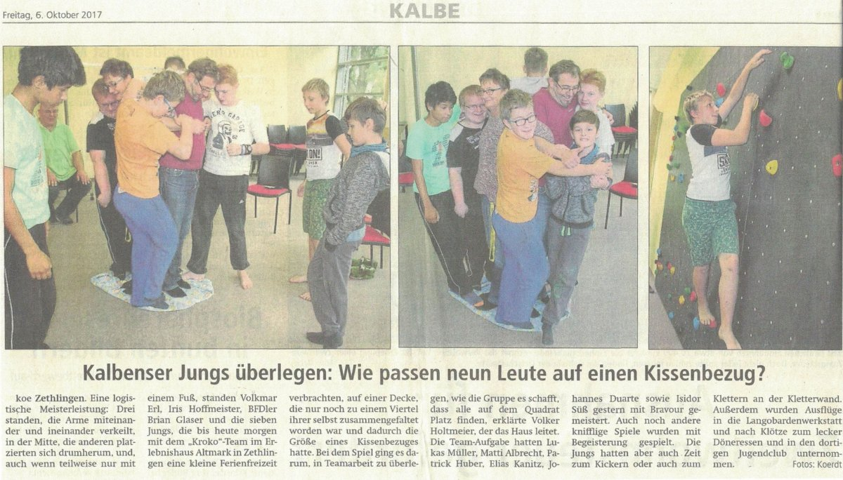 AWO Kroko (Altmarkzeitung 06.10.17)