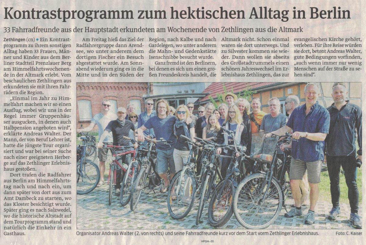 Berliner Radfahrer (Volksstimme, 14.05.18)